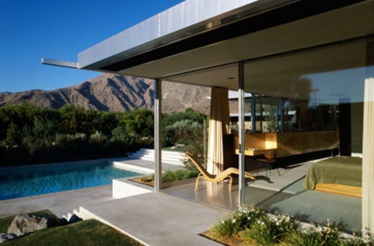 The desert oasis of Palm Springs has plenty of classic examples of Mid-Century modernist architecture. The Kaufmann Desert House (above), one of Richard Neutra's most famous buildings, was built for the same Kaufmann family that commissioned Fallingwater; in May, it nearly sold for $19 million. (It's now back on the market.)